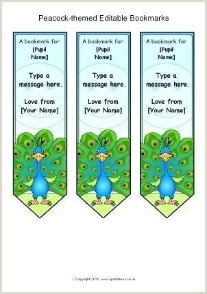 Editable Bookmark Template Editable Bookmark Template