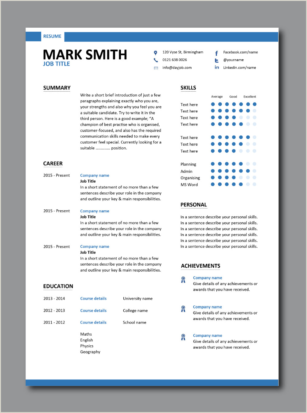 Editable Modern Cv format Latest Cv Template Designs Resume Layout Font Creative