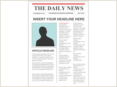 Editable Old Newspaper Template for Word Editable Newspaper Template – Portrait