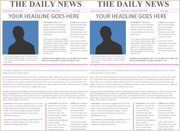 Editable Old Newspaper Template for Word Newspaper Headline Template 12 Free Word Ppt Psd Eps