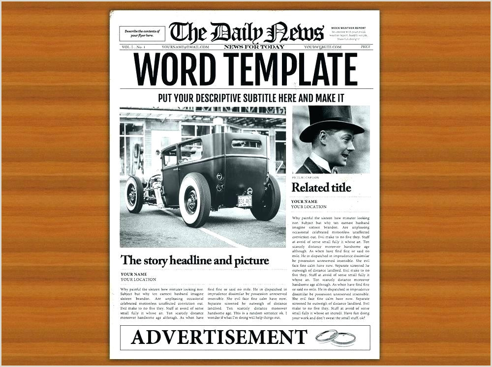 Editable Old Newspaper Template for Word Newspaper Template Google Docs – Altpaper