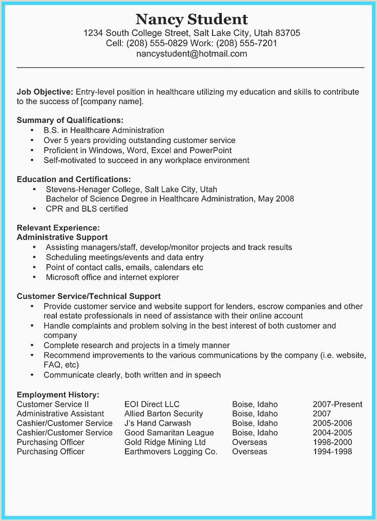 Education and Certifications On Resume Exemple Cv original Word Libre College Cv Free Example A