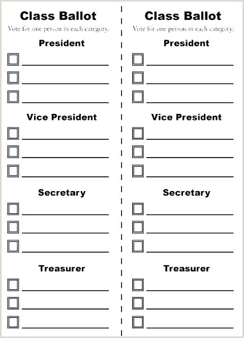 Election Ballot Template for Kids Free Editable Raffle Movie Ticket Templates Ballot Template