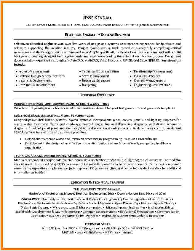 11 cv template for electrical engineer