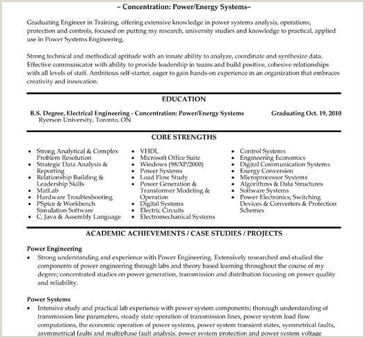 Electrical Engineer Cv format 71 Unique Resume Sample Electrical Engineering