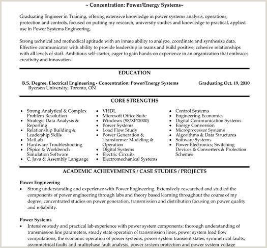 71 Unique Resume Sample Electrical Engineering
