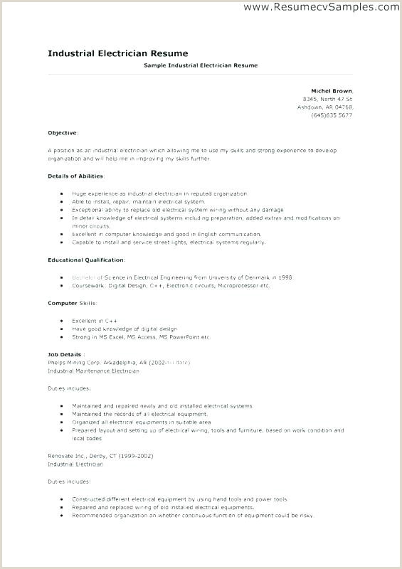 Electrical Technician Resume Sample Electrician Resume Examples Free Resume Sample Electrician