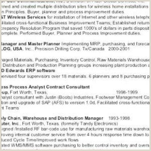 Electrical Engineer Sample Resume New Semiconductor Process