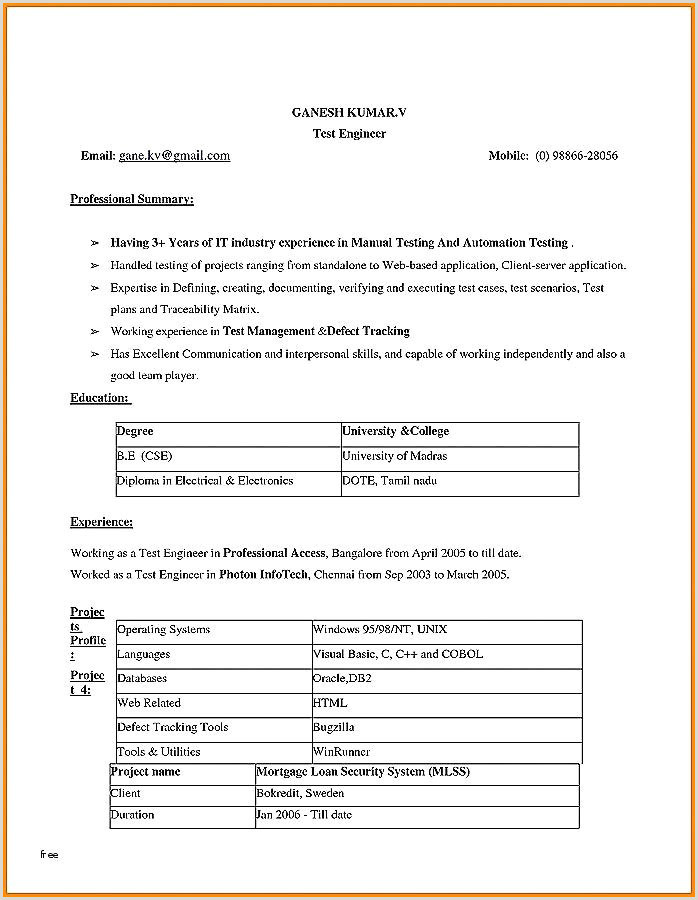 Fresh Electrical Project Engineer Resume Sample – 50ger
