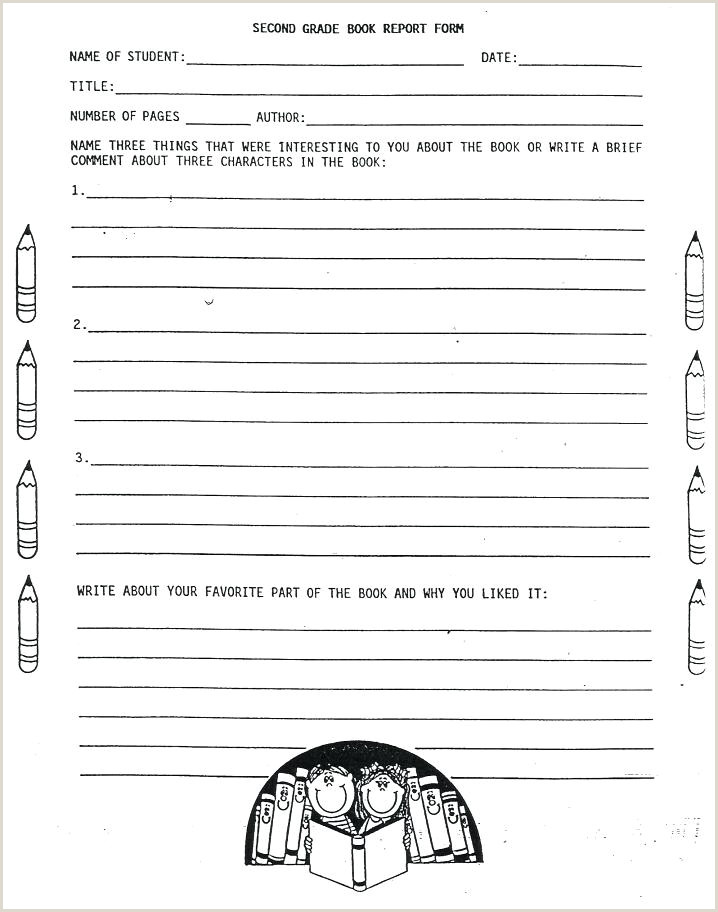 Elementary Book Report Template 10 6th Grade Book Report