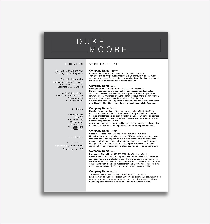 25 Sample Elementary Teaching Resume Template