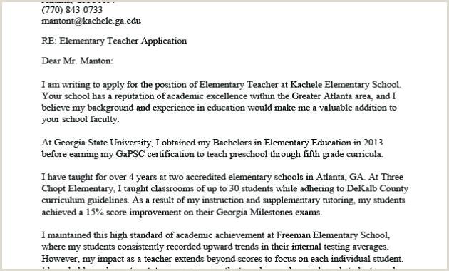Elementary School Teacher Cover Letter Elementary Teacher Cover Letter Examples – Growthnotes