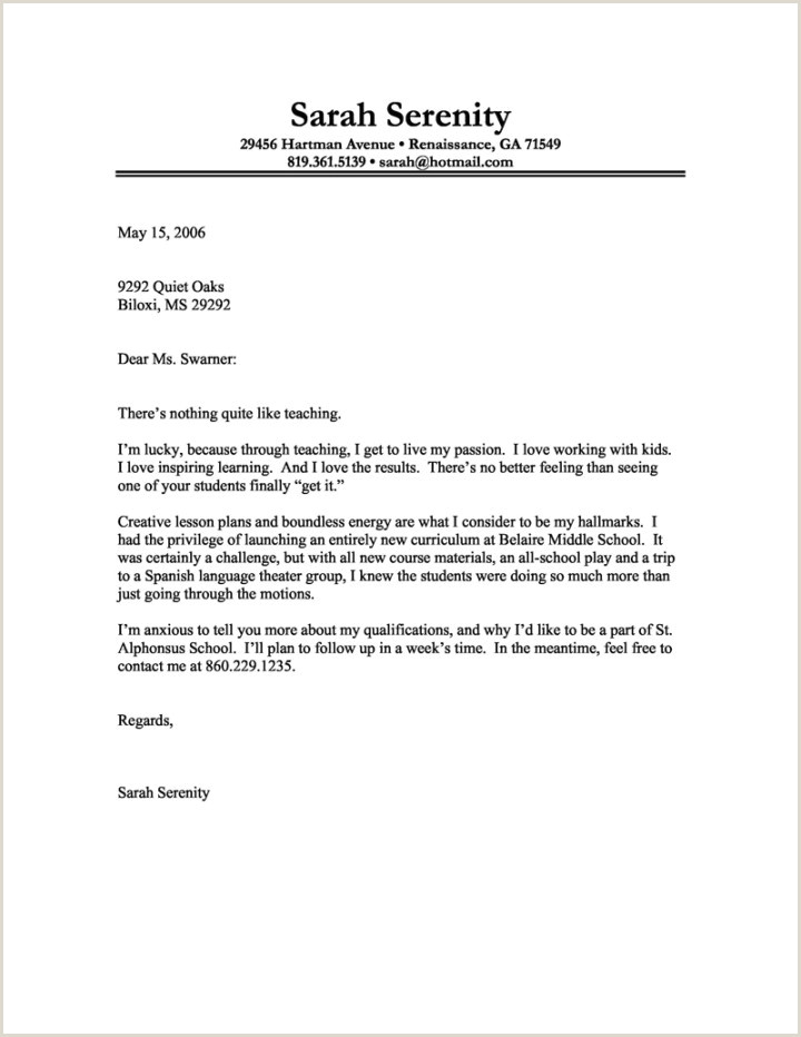 Elementary Teacher Cover Letter No Experience 9 10 Entry Level Teaching Cover Letter