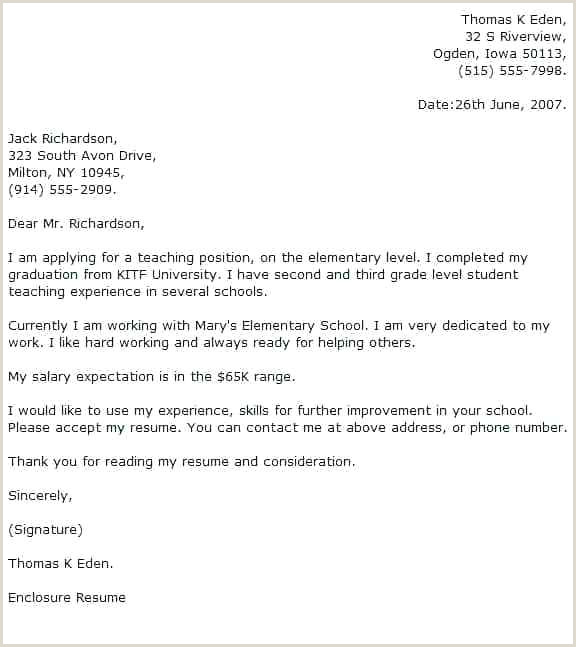 teacher application cover letter template