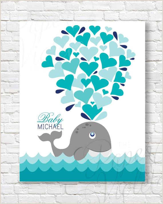 Printable Whale Guest Book Alternative