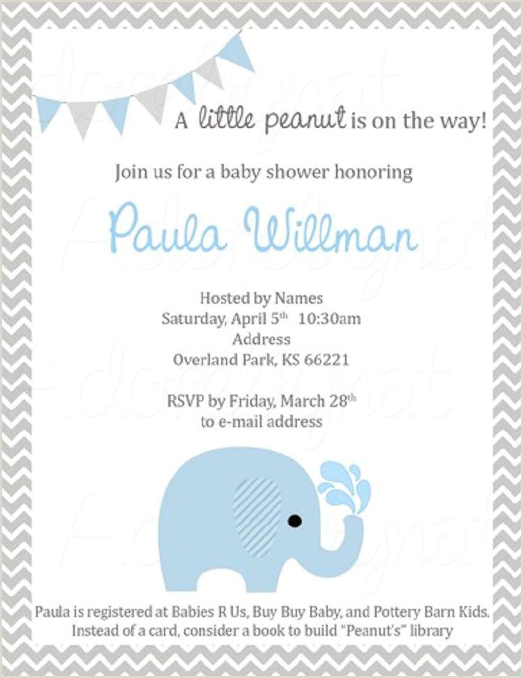 elephant baby shower invitations boy template