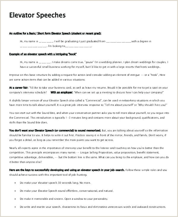 Elevator Pitch Template for Students Elevator Pitch Template for Students – Copyofthebeautyfo