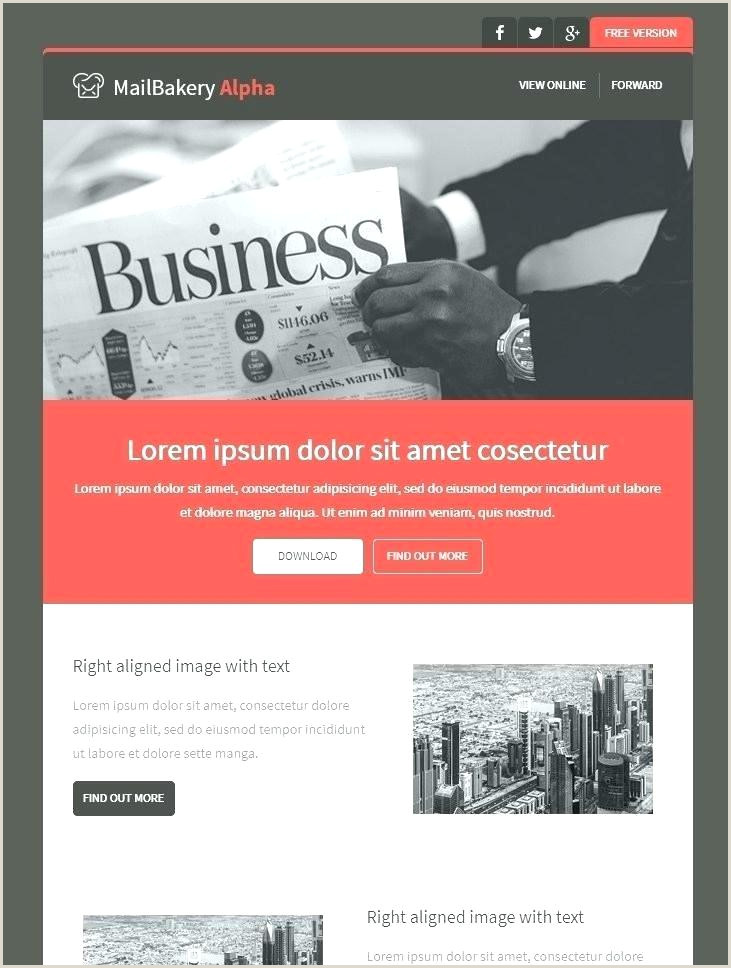 gmail newsletter template