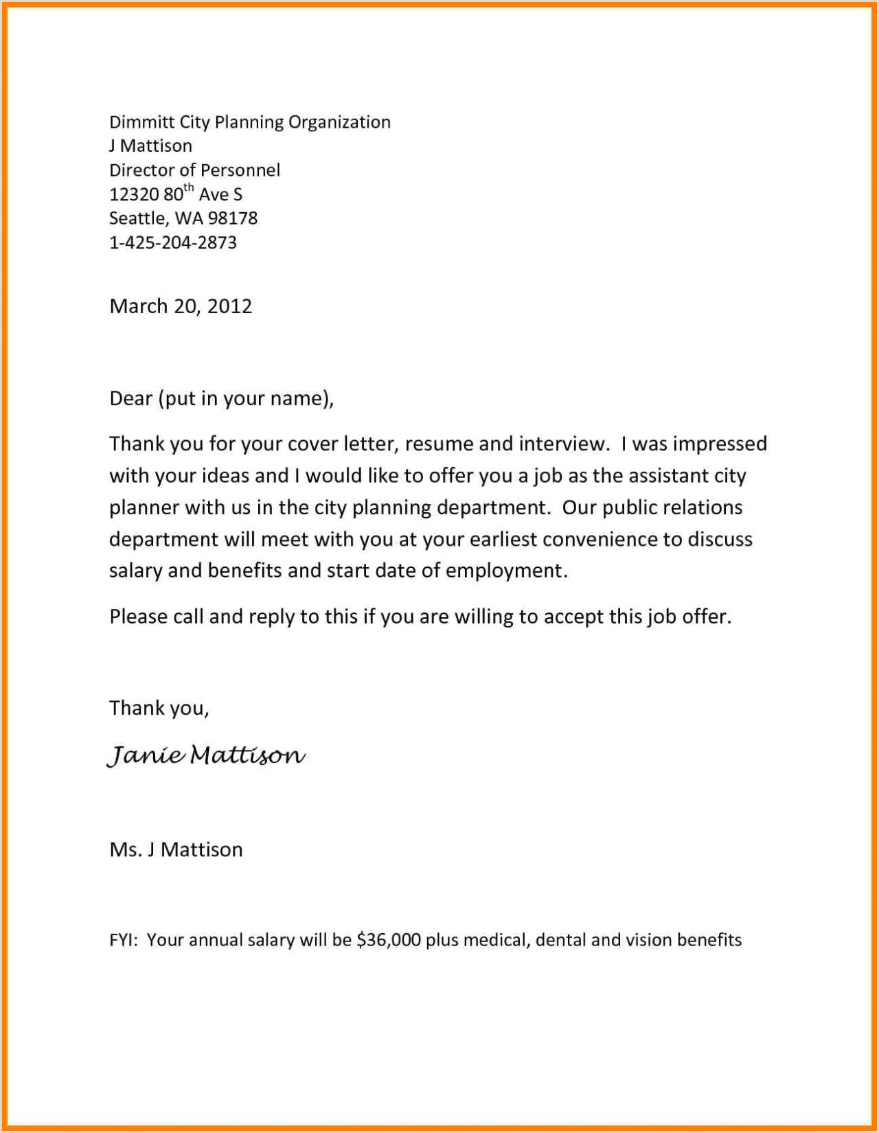 Email Reply to Job Offer Work Fer Letter Template Samples