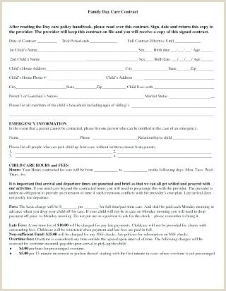 Emergency Contact form for Babysitter Babysitter Contract Template Printable Babysitting Contracts