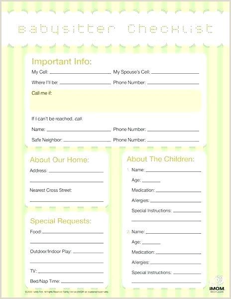 Nanny To Do List Template Babysitting Checklist Child Care