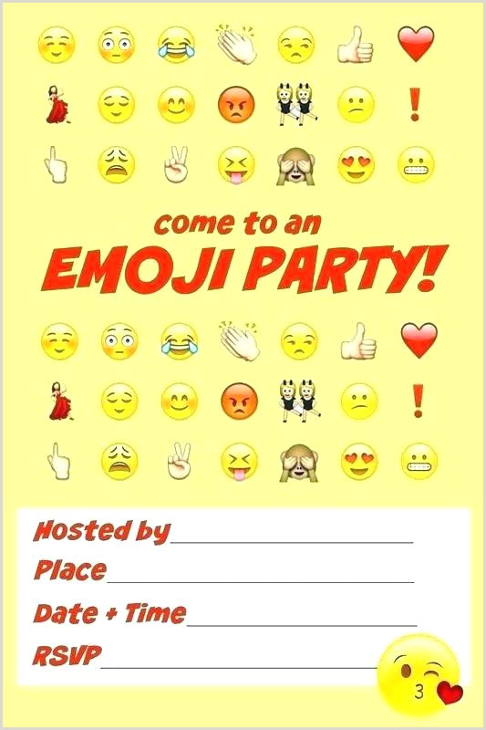 Emoji Invitation Template Free Emoji Invitation Template Poop Birthday Invite Free Download