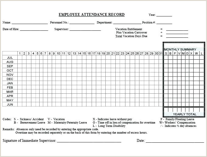 Employee attendance Sheet format In Excel Free Download attendance Record Template Weekly attendance Sheet Student