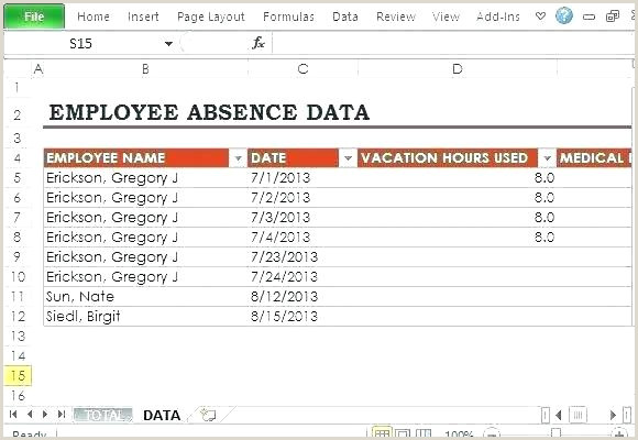 Employee attendance Sheet format In Excel Free Download Employee attendance Sheet – Entrerocks