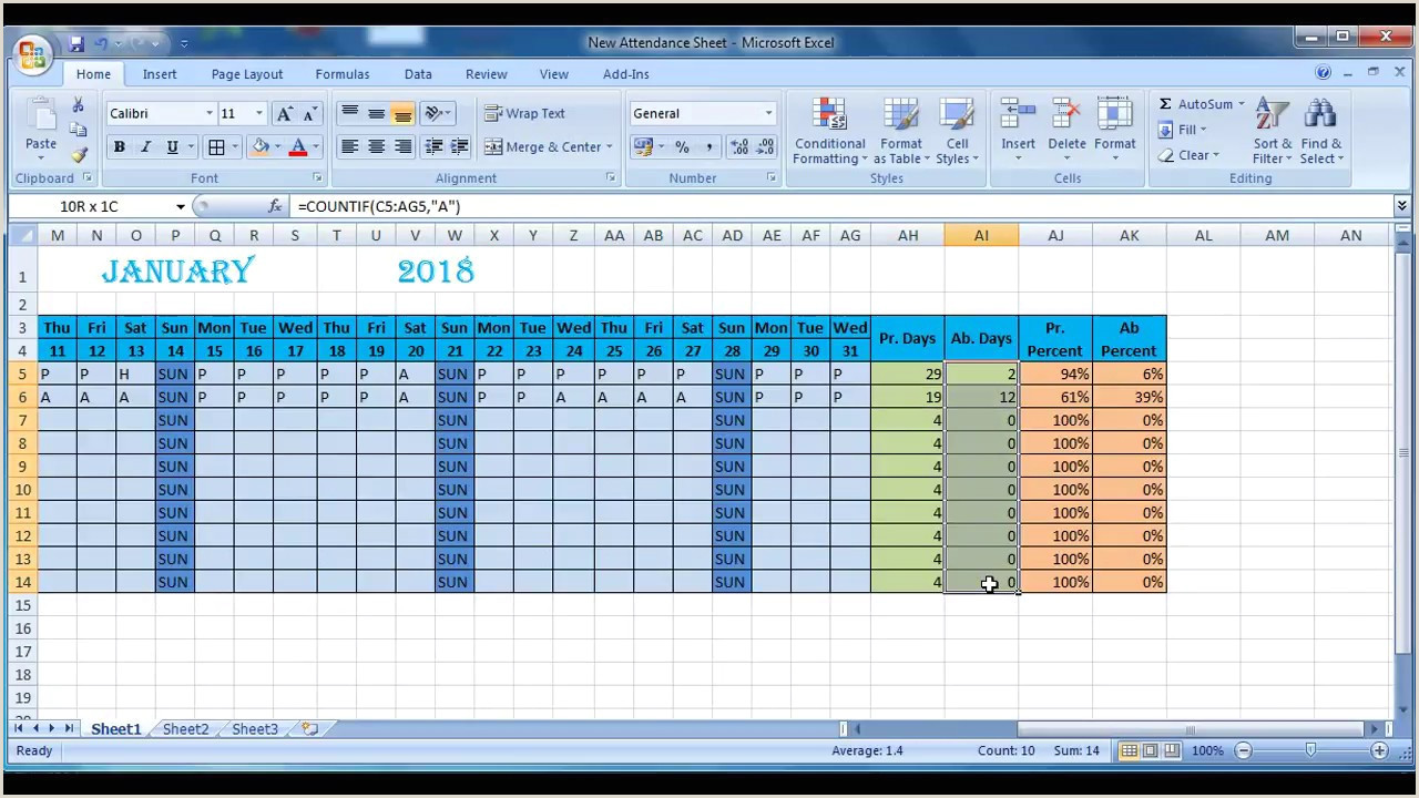 Employee attendance Sheet format In Excel Free Download How to Make attendance Sheet In Excel Anwesenheitsliste