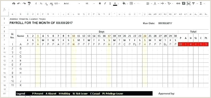 Employee attendance Sheet format In Excel Free Download Monthly attendance Sheet Template Excel – Kizerjournal