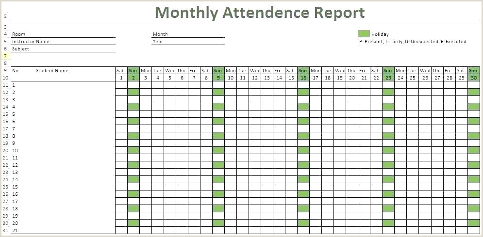 Employee attendance Sheet format In Excel Free Download Weekly attendance Sheet Template