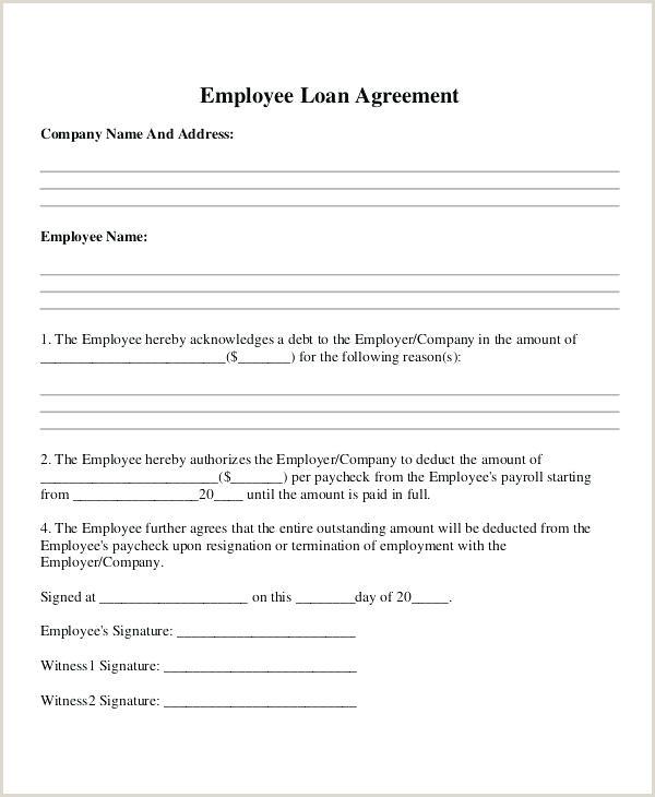 Employee forgivable Loan Agreement Template Employee Loan Template forgivable Loan Agreement Between