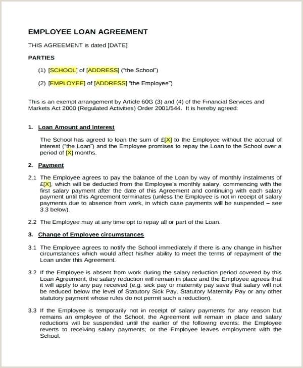 Employee forgivable Loan Agreement Template Loan Agreement Sample – Skyphotos