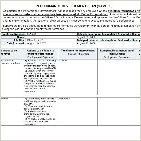 Career Development Plan Examples For Employees Employee
