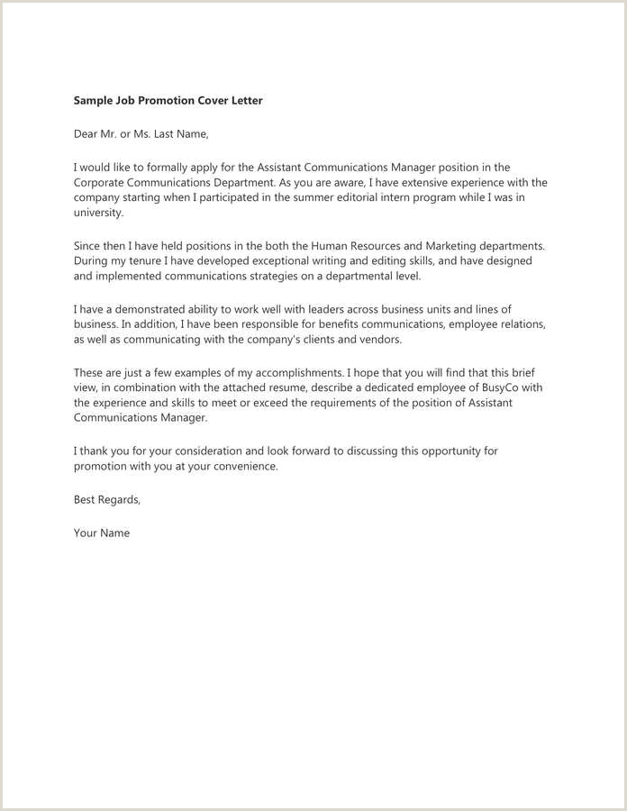 Cover Letter for Applying for A Job Internally Unique