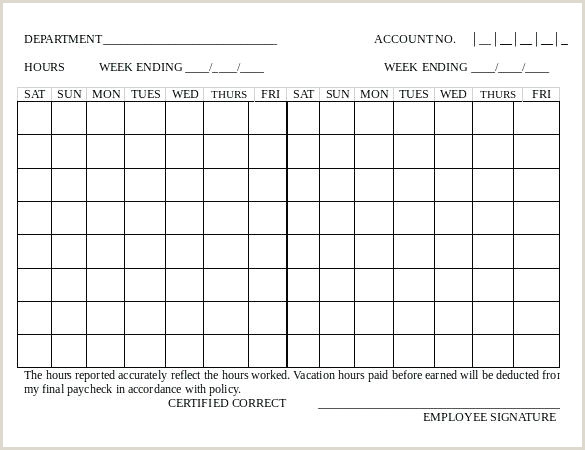 Bi Weekly Template For Word Employee Timesheet Basic Sample