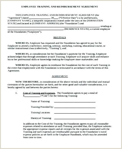 9 Sample Training Agreements Templates Personal Agreement