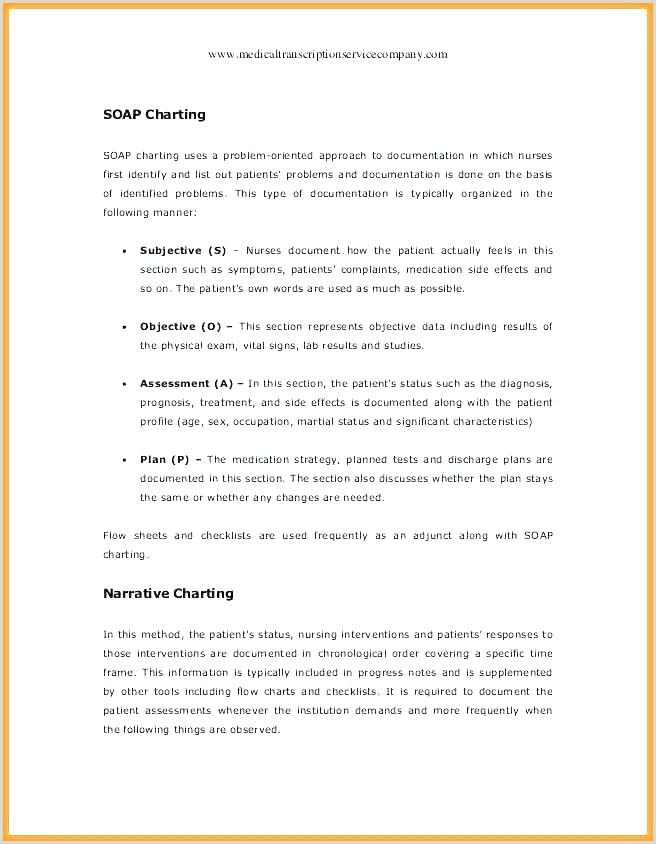 nursing documentation template