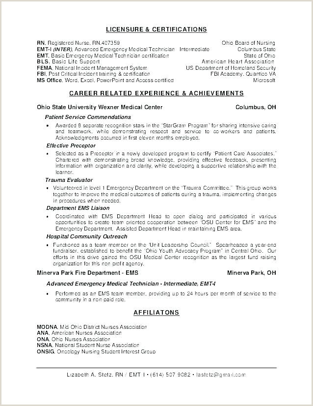 Emt Resume Examples Emt Resume Example Best Resume Objective Example Entry