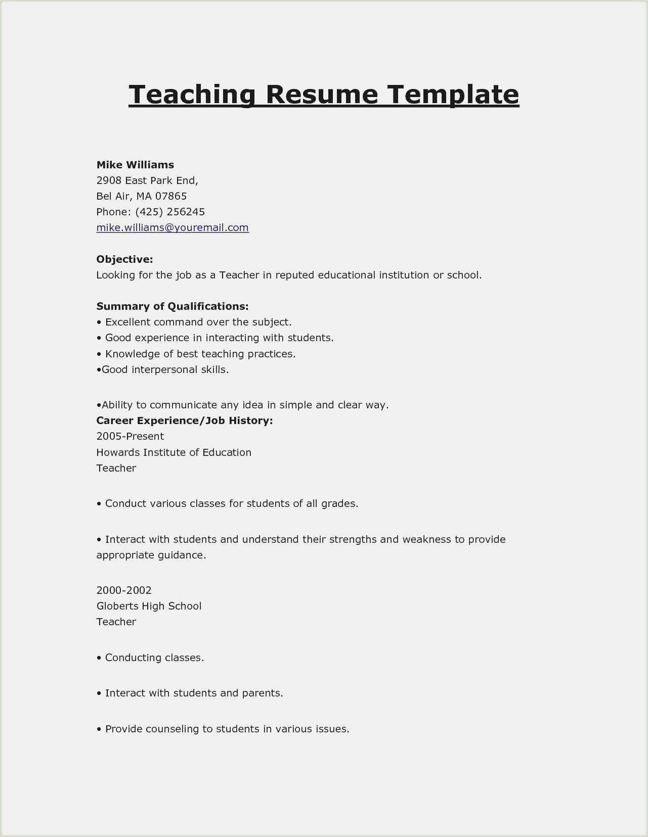 Free 52 top Resume Templates Simple