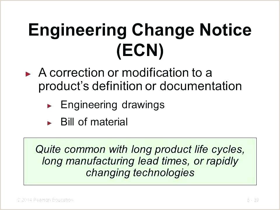 Engineering Change order Template Excel Engineering Change Notice Template Change Request Template