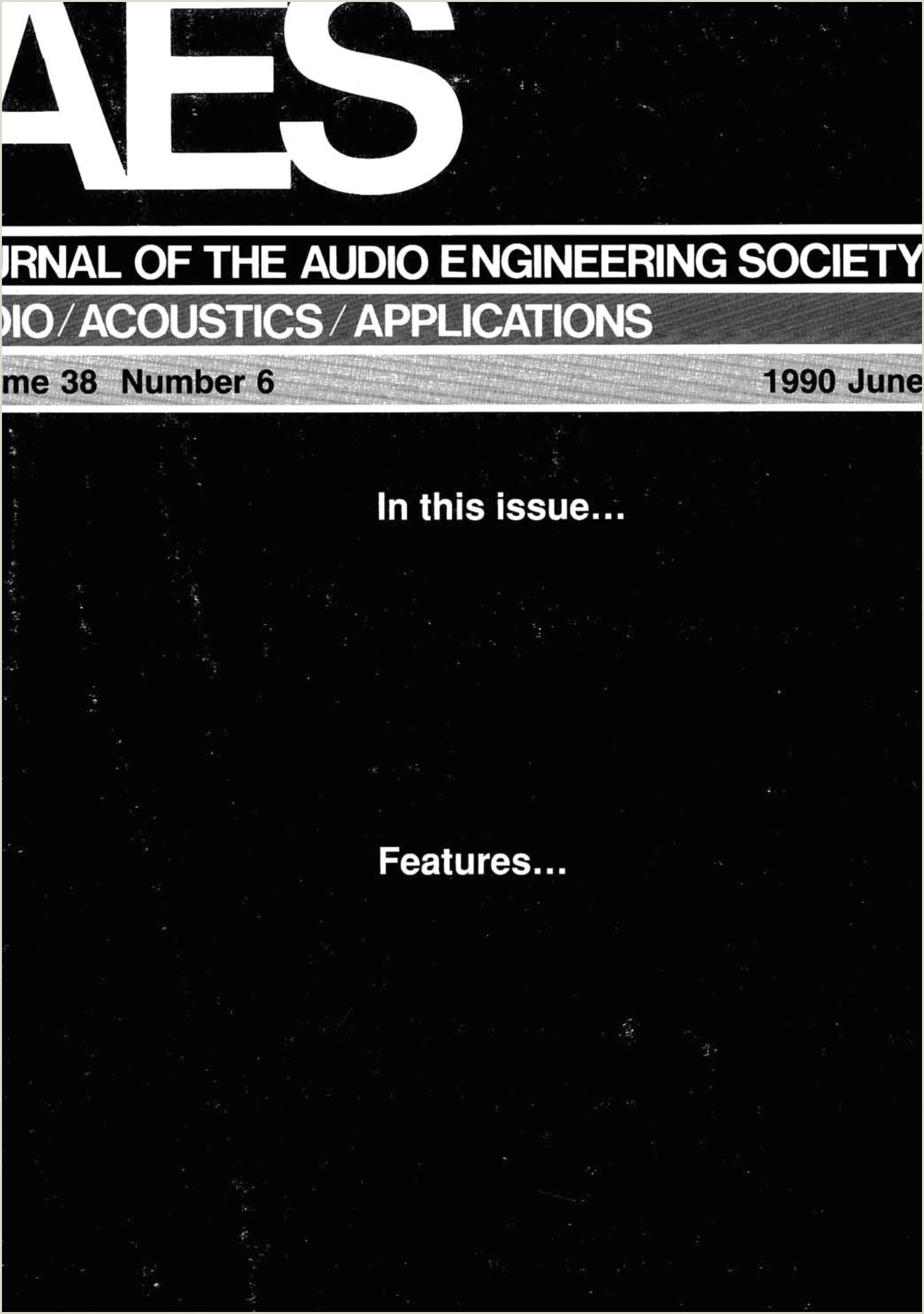 AES E Library plete Journal Volume 38 Issue 6