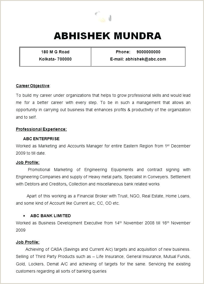 Engineering Fresher Resume format Download In Ms Word Good Resume Templates for Freshers – Hayatussahabah