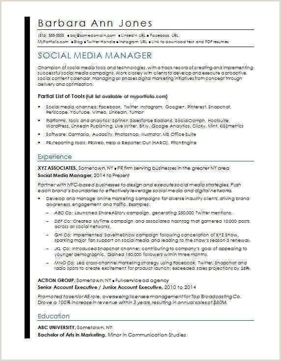 Modele Cv Pdf Beau English Cv Model Pdf social Media Resume