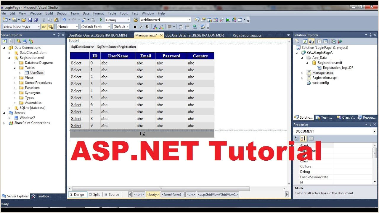 Enter to Win form Template asp Net Tutorial 3 How to Create A Login Website Creating Database for Website