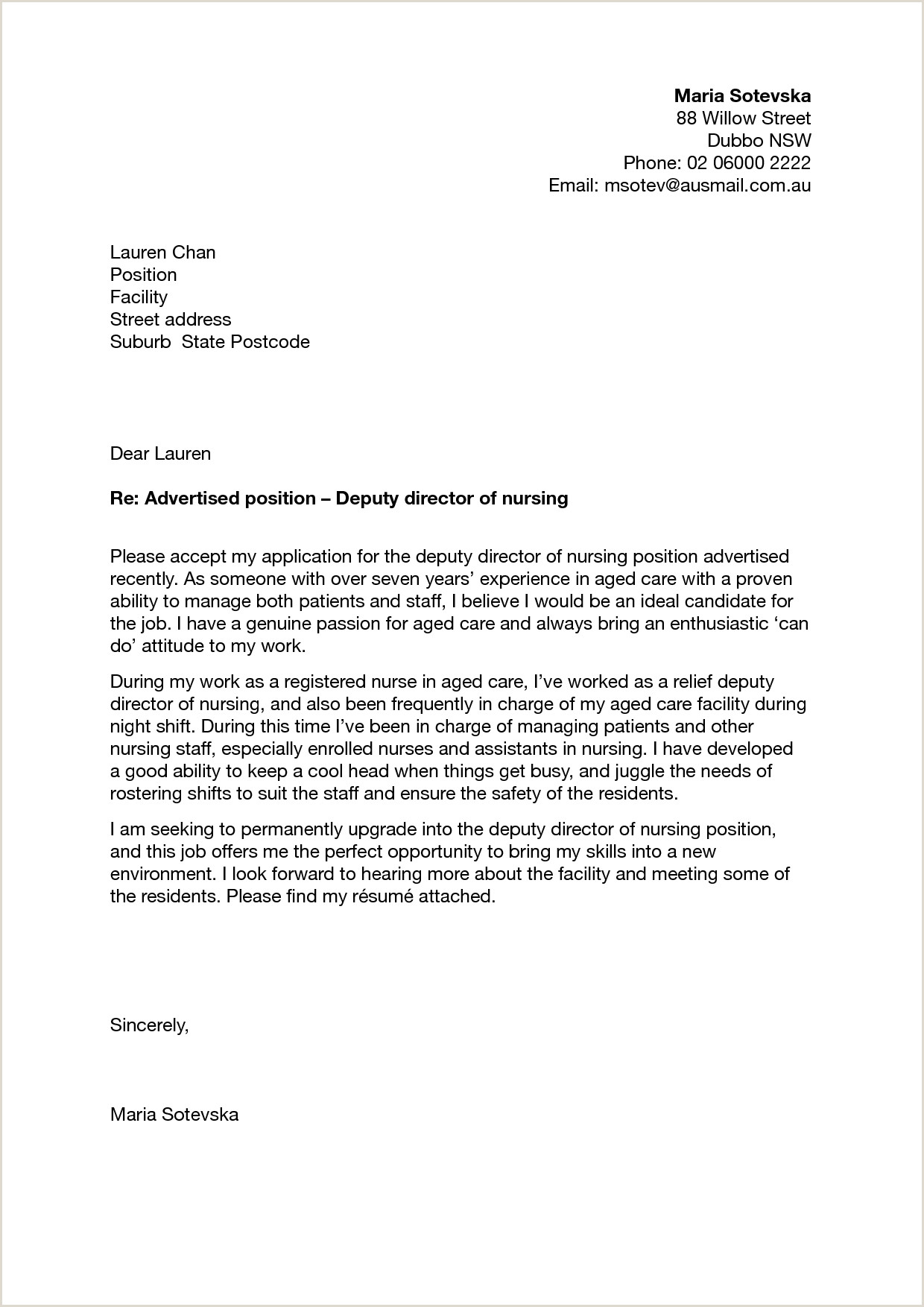 Cover Letter Template Australia Wallpaper