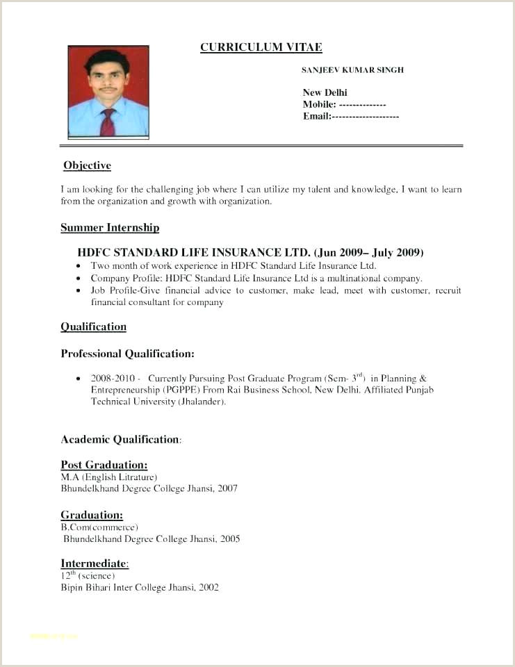 Simple Resume Format With Cover Letter For Diploma Freshers