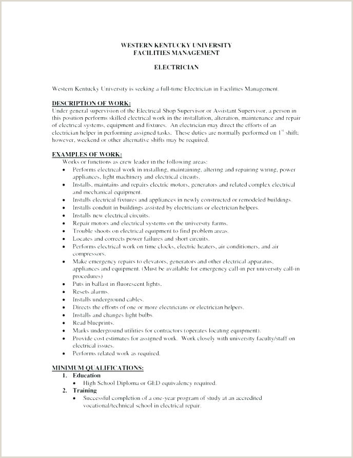Entry Level Apprentice Electrician Cover Letter Electrician Resume Examples – Joefitnessstore