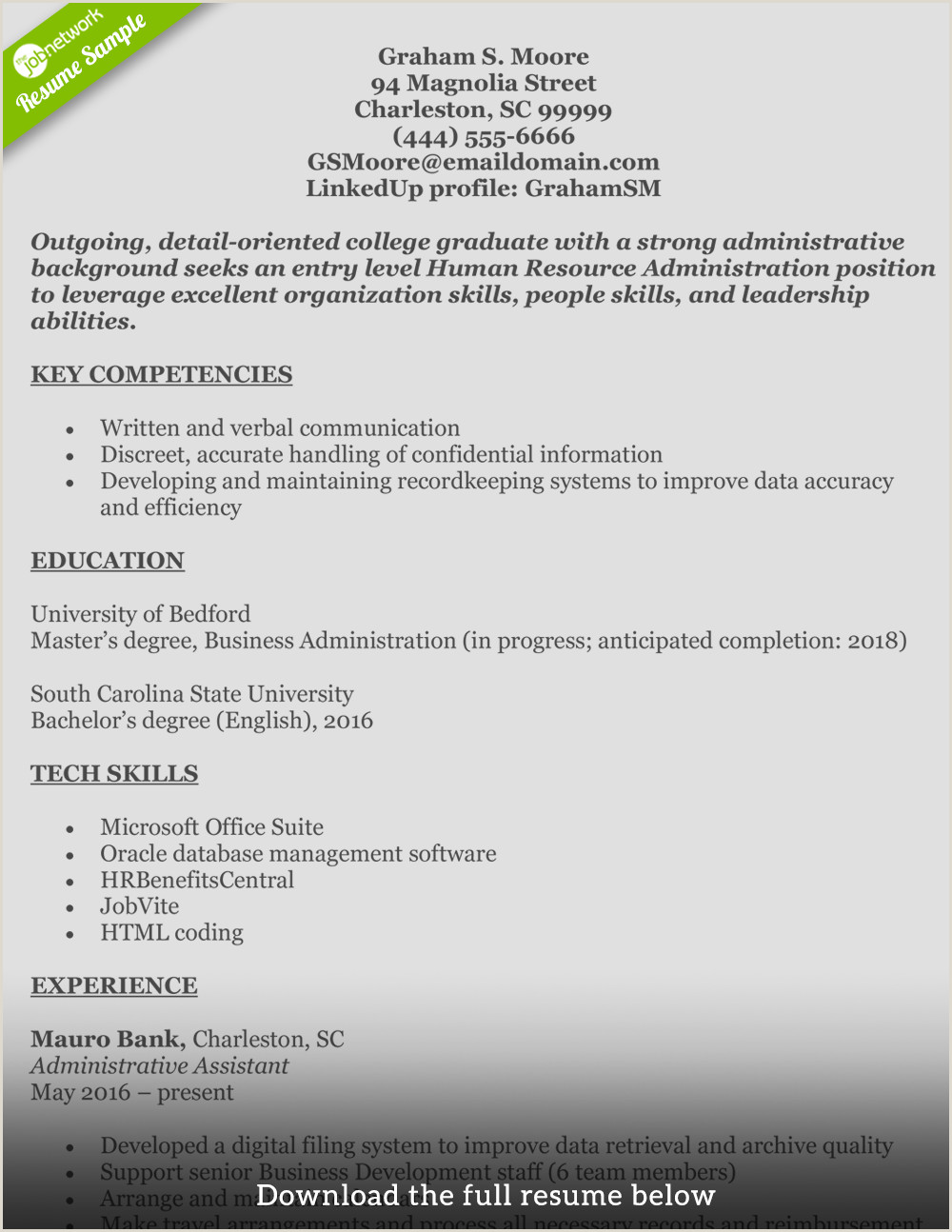 How To Write A Perfect Human Resources Resume Hr Generalist