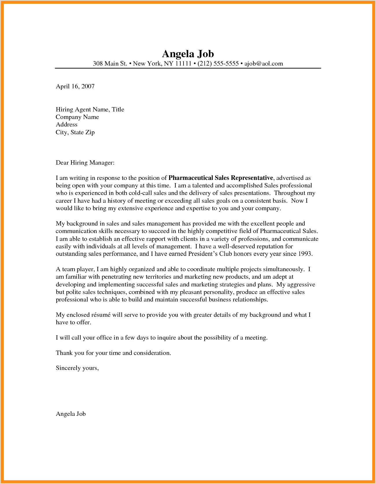 10 11 sales rep cover letter samples